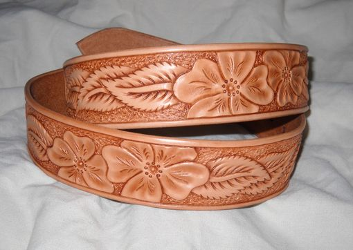 Custom Made Custom Hand Tooled Leather Belt