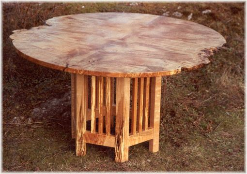 Custom Made Maple Burl Dining Table