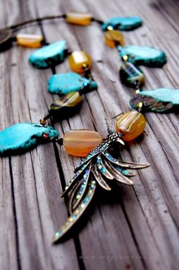 Custom Made Yellow And Aqua Bird Of Paradise