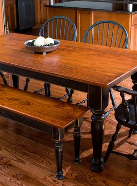 Custom Made Cherry Dining Table & Matching Bench