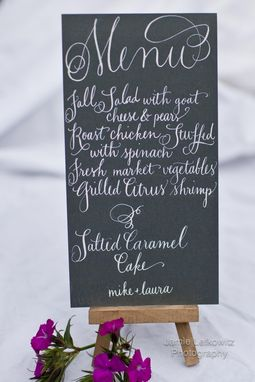 Custom Made Custom Calligraphy Menu