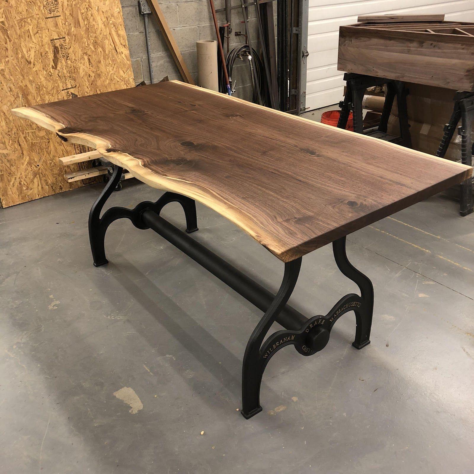 Custom Built Dining Room Tables: Custom Black Walnut Dining Room Table // Live Edge Slab
