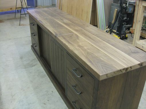 Custom Made Solid Walnut Media Center