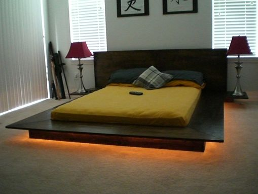 Custom made tatami bed by scott design for Futon e tatami