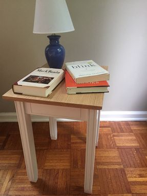 Custom Made Small End Table With Simple Inlay