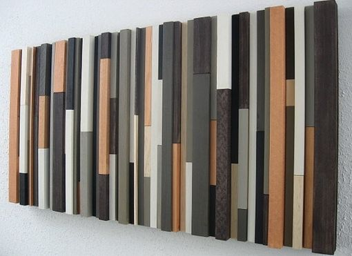 Custom Made Modern Rustic Wood Wall Art