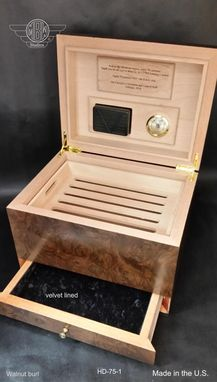Custom Made Humidor Handcrafted In The U.S. Hd-75-1