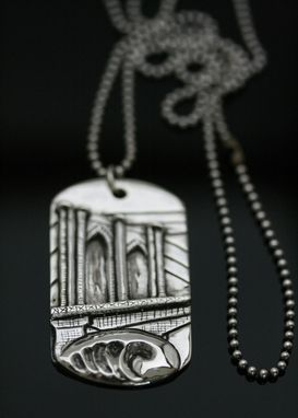 Custom Made Brooklyn Bridge Dog Tag Penadnt