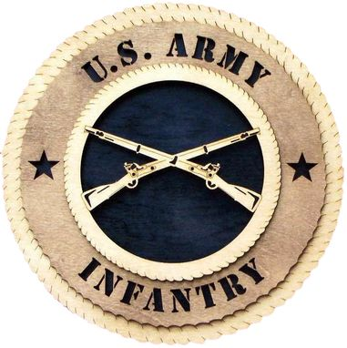 Custom Made U.S. Army Infantry Wall Tribute, U.S. Army Infantry Hand Made Gift