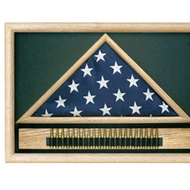 Buy a Hand Made Military 21 Gun Salute Flag Display Case, made to ...