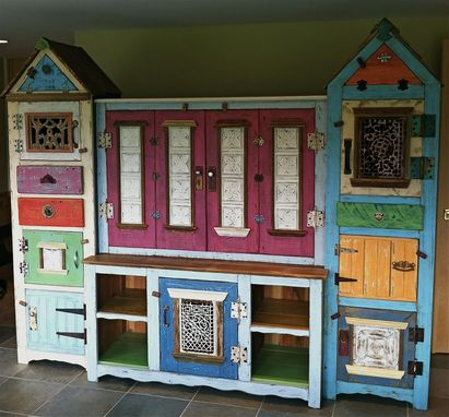 Custom Made Birdhouse Tower Media/Entertainment Center