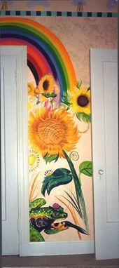 Custom Made Kids Room Sunflower Nursery Murals
