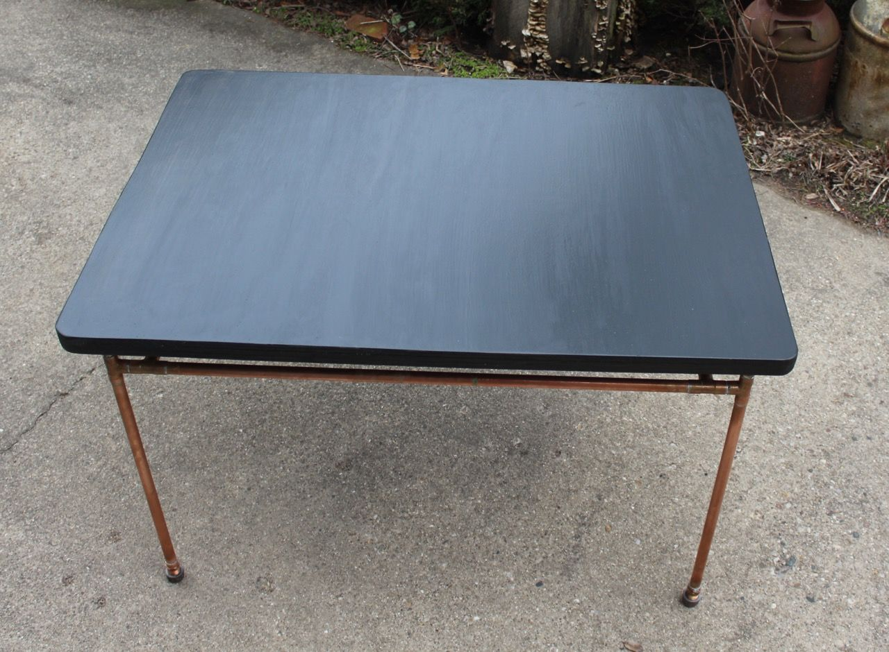 Hand Made Baltic Birch Plywood & Copper Pipe Kitchen Table by Urban ...