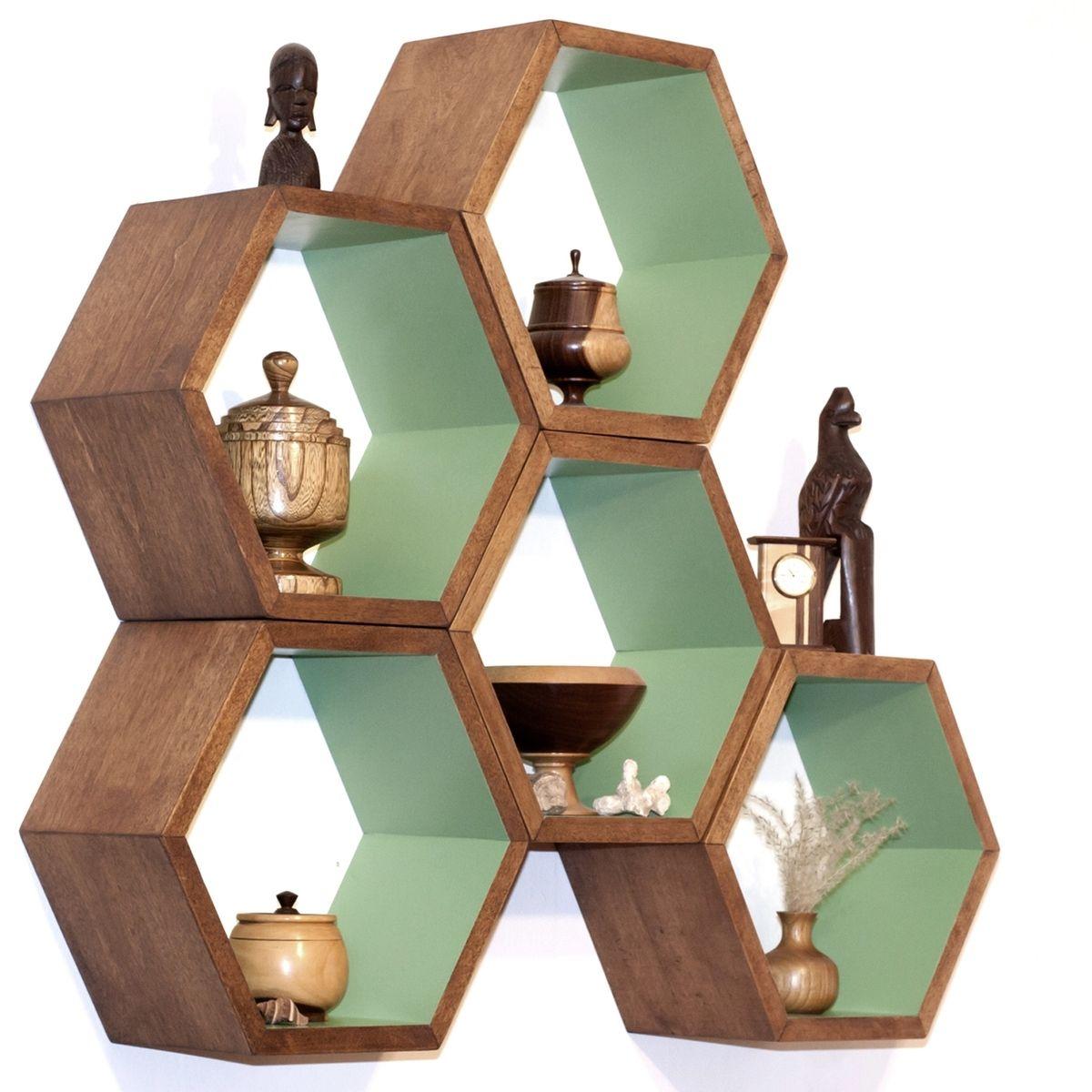 custom made modern shelving  hexagon arrangements by  - custom made modern shelving  hexagon arrangements