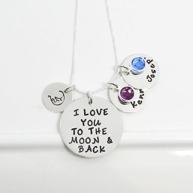 Custom Made I Love You To The Moon And Back Personalized Mother's Necklace