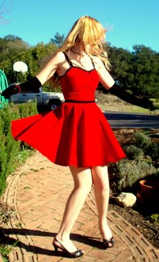 Custom Made Vintage Inspired Custom Silk Velvet Pin Up Dress Any Size And Color