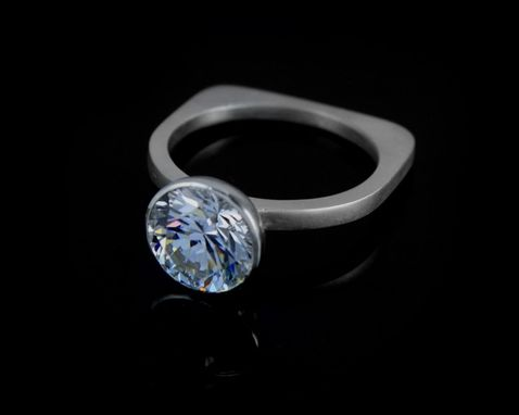 Custom Made Bezel Set Solitaire Ring