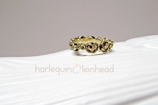 Custom Made Full Rose Ring - Gold Plated / Rose Gold Plated