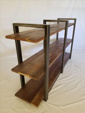 Custom Made Industral Walnut Shelving
