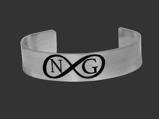Custom Made Personalized Infinity Steel Bracelet With Initials, Best Friend Gift, Couples Cuff Bracelets