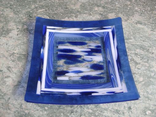 Custom Made Fused Glass Square Platters