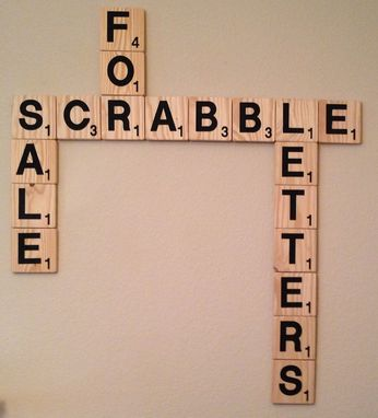 "Custom Made Interconnecting 5"" X 5"" Scrabble Letters For Custom Plaques"