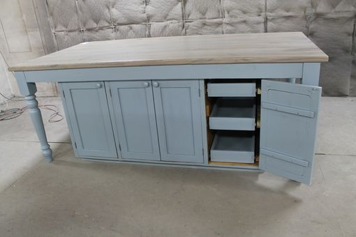 custom made OAK kitchen island counter from salvage 7 ...