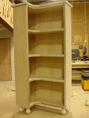 Custom Made Corner Book Case Cabinet