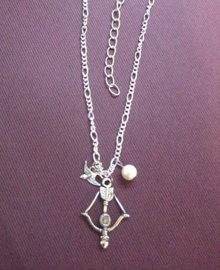 Custom Made Sale Necklace Inspired By Hunger Games, Peeta's Pearl, Katniss Bow And Arrow, And The Mockingjay