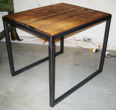 Custom Made Industrial Wood & Steel Coffee Table