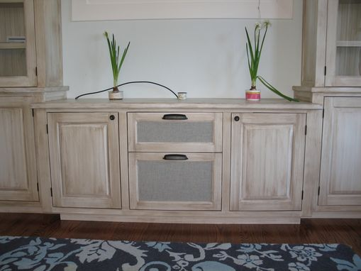 Custom Made Faux Finish Entertainment Center