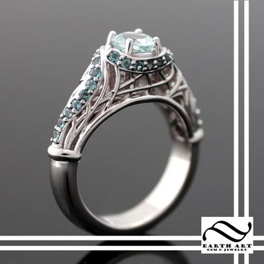 Custom Made Custom Aqua And Alexandrite Ring