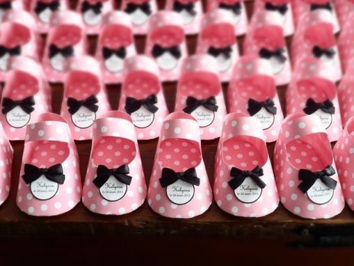 Custom Made Paper Baby Shoe Favors