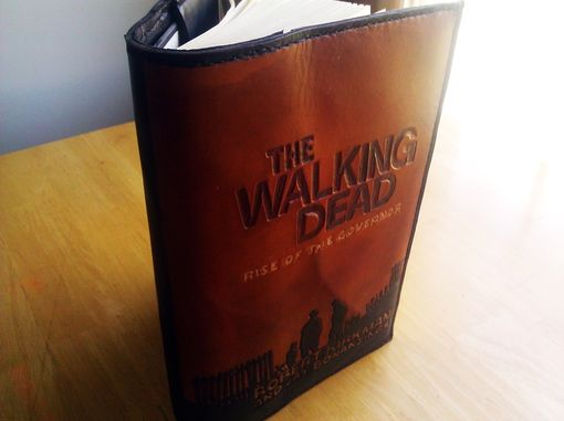 Custom Made The Walking Dead Leather Book Cover