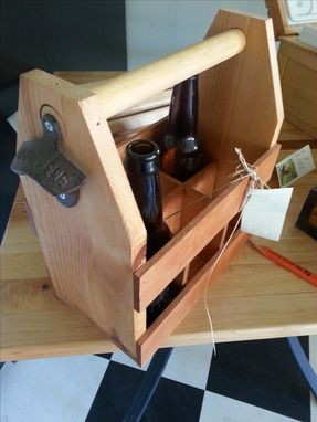 Custom Made Cedar Six Pack Beer Holder