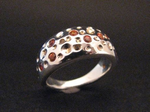 Custom Made Luna Collection Dome Ring In Sterling Silver With Your Choice Of Gemstones