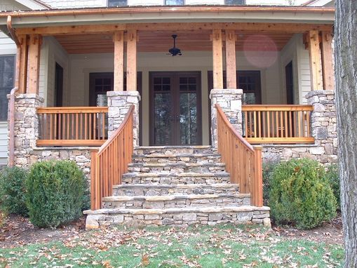 Custom Made Craftsman Double Post & Beam And Railing Work