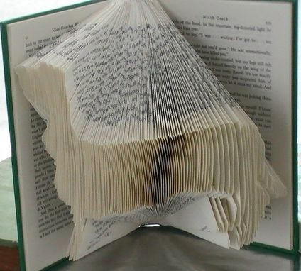 Custom Made Custom Dog Art - Book Origami Dachshund - Folded Book Art