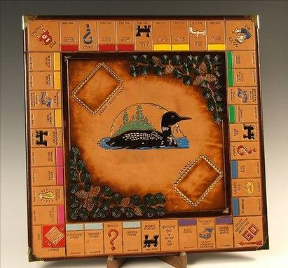 Custom Made Monopoly Board With Loon On Lake Scene