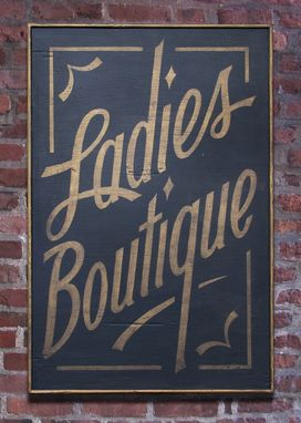 Custom Made Vintage Sign Art: Ladies Boutique