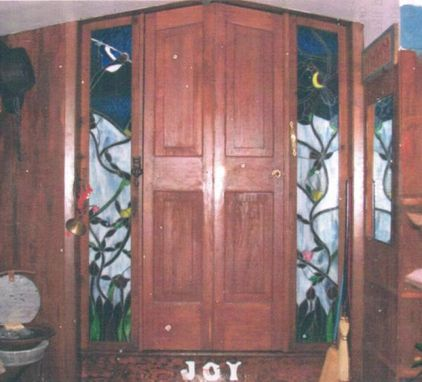 Custom Made Stained Pine Folding Kitchen Doors