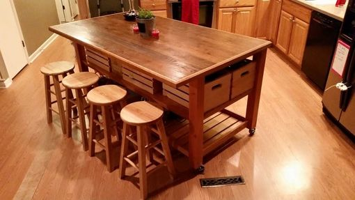 Custom Made Kitchen Island With Breakfast Bar