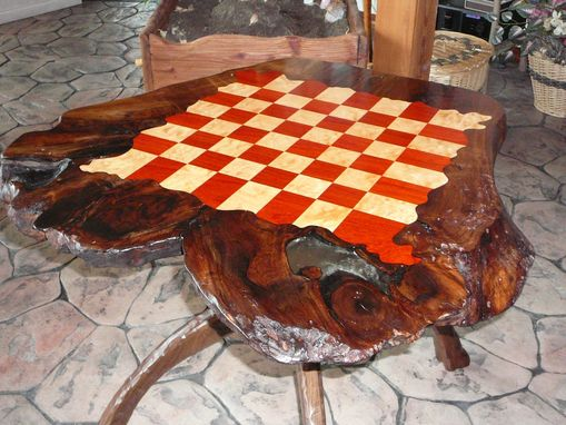 Custom Made Rustic Chess Table Design
