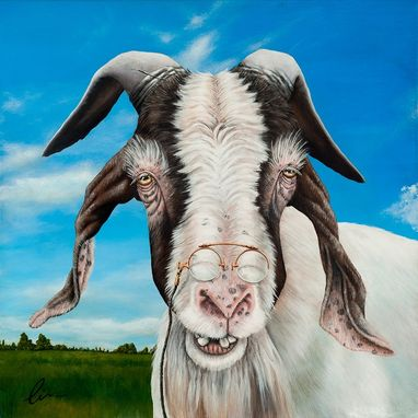 Custom Made These Three Goats- Fine Art Paintings