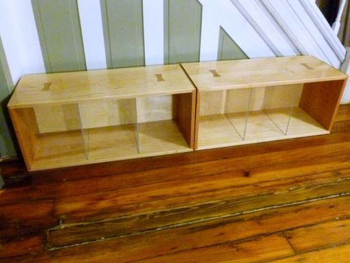 Custom Made Mid Century American Style Bookshelves Bookshelf Record Bin Storage Units