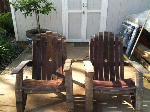 Custom Made Wine Stave Adirondack Chairs
