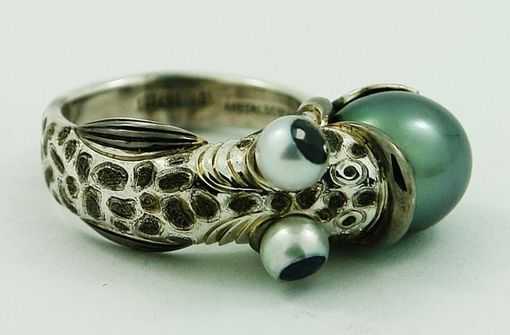 Custom Made Sterling Silver Fish Ring