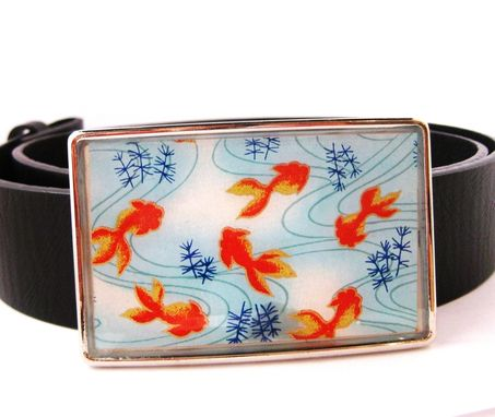Custom Made Resin Belt Buckle With Japanese Koi Design