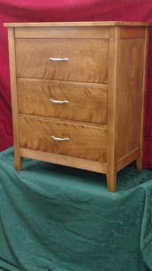 Custom Made 3 Drawer Shaker Style Mini High Boy W/Inset Drawers (Chest Of Drawers)