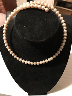 Custom Made Real Pink Pearls Croaker Wrap Around